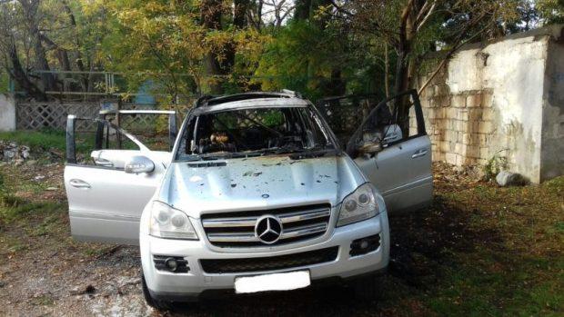 Автопожар в Севастополе - сгорела дорогая иномарка
