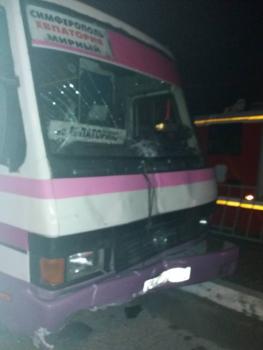 ДТП с участием двух рейсовых автобусов на трассе «Симферополь – Евпатория». Есть пострадавшие