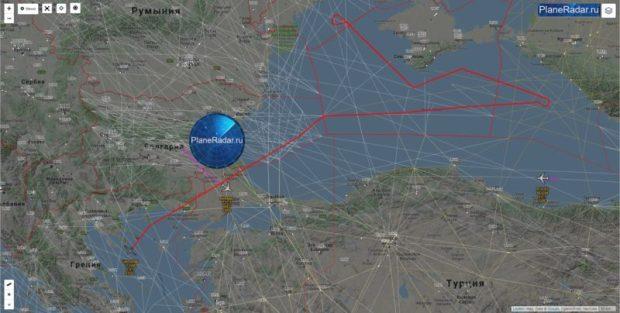 Американские самолеты дважды «проверяли» границы Крыма над Черным морем в воскресенье