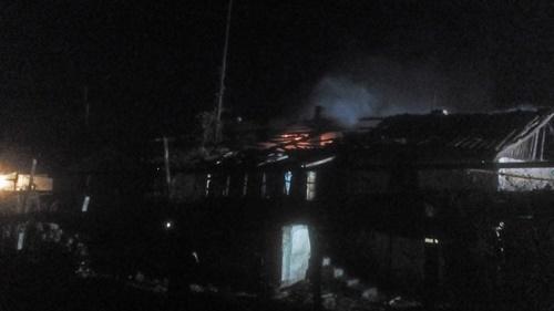 Вечерний пожар в крымском селе Тургеневка