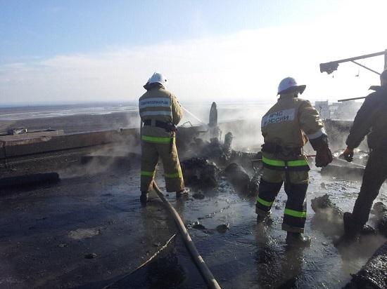 В Щелкино на крыше девятиэтажки взорвались два газовых баллона