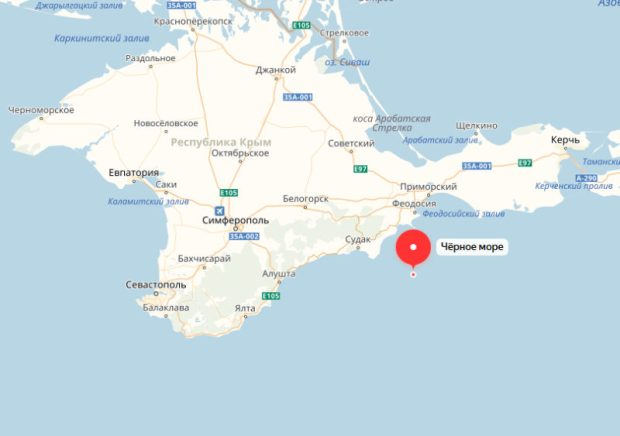 Ночное землетрясение в Черном море. Эпицентр – в 28 км от крымского поселка Орджоникидзе