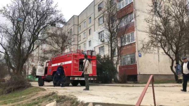 На пожаре в Щелкино спасены трое людей
