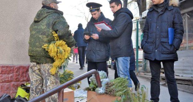 В крымской столице прошел рейд по пресечению стихийной торговли