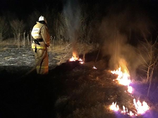 Крымские пожарные обеспокоены возросшим количеством возгораний сухой растительности