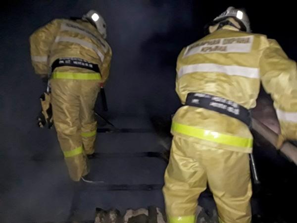 В Первомайском районе Крыма сгорел дом