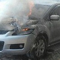 В Крыму на ходу загорелась «Mazda СХ-7»