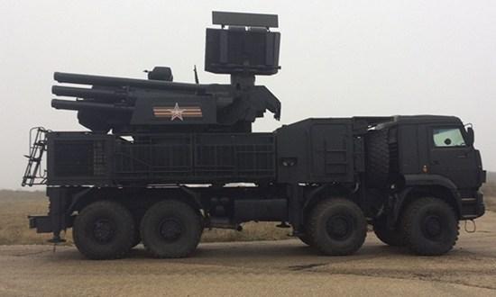 В Крыму боевые расчёты ЗРПК «Панцирь» Черноморского флота провели тренировку