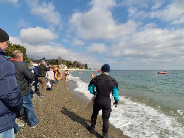 В Алуште прошел «Крымский слет любителей зимнего плавания»
