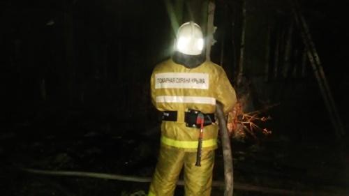 Пожар в Коктебеле. Тушили два часа