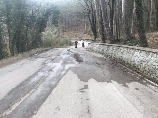 Дорога на Ай-Петри «поползла». Ремонт займет 10 дней