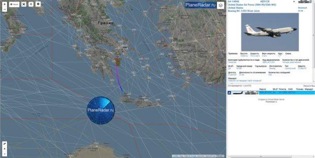 Не оставляют своим вниманием. Самолет ВВС США провел разведку у берегов Крыма