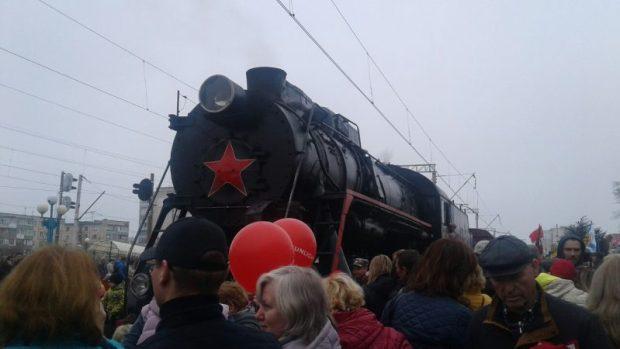 13 апреля Поезд Победы побывал в Симферополе и Евпатории