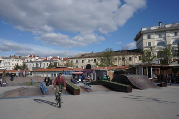 В Севастополе открыли скейт-парк. Самый большой в Крыму