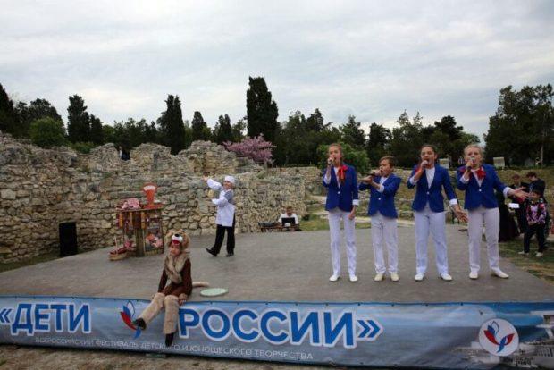 Всероссийский фестиваль «Дети России» завершился в Античном театре Херсонеса