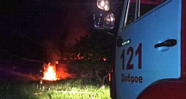 Пожар в селе Перевальном Симферопольского района. Эх, слишком поздно