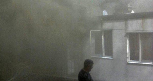 Крупный пожар в Партените: погибла женщина. Горело жилое здание барачного типа