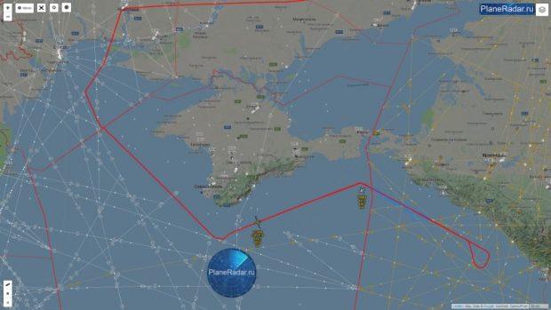 Первомайская разведка ВВС США у берегов Крыма