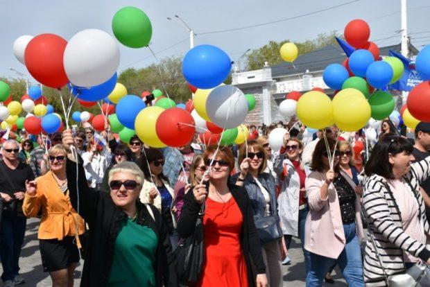 Первомайская демонстрация в Евпатории