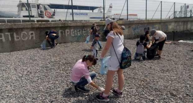 В Крыму подвели итоги акции «Чистый берег»