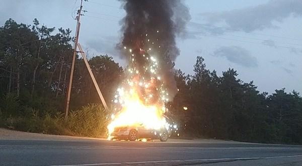 Автопожары под Инкерманом и на Северной стороне Севастополя