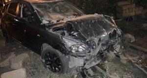 Ночное ДТП в Симферополе: иномарка протаранила забор домовладения
