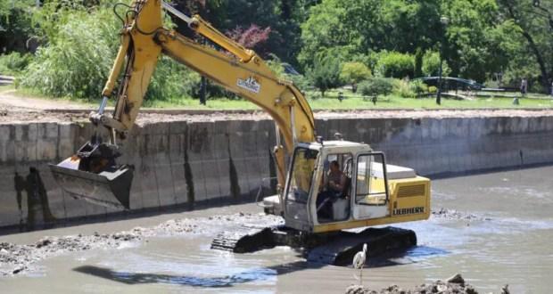 В Симферополе завершилась очистка русла реки Салгир