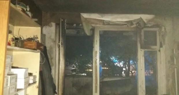Вечерний пожар в Севастополе