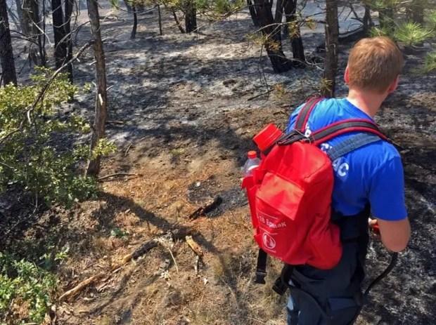 Пожар на горном хребте Кара-Бурун в Крыму. Большой беды не случилось