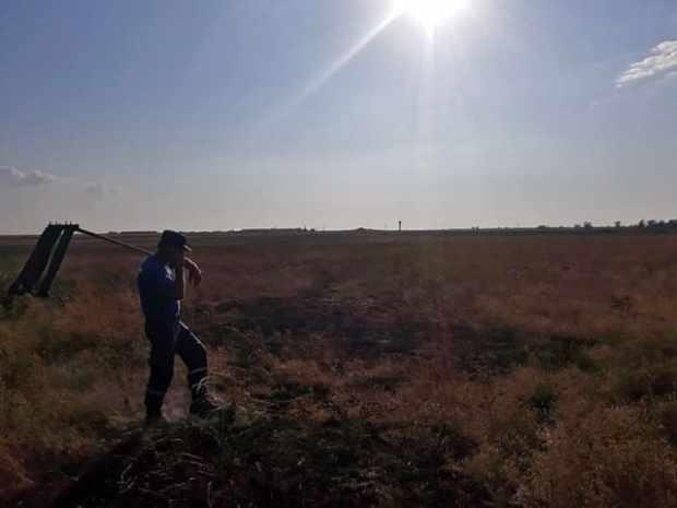 В Сакском районе обрыв ЛЭП привел к пожару