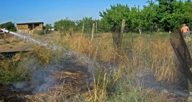 """В Крыму в минувшие сути огонь """"сожрал"""" 6 гектаров сухой растительности"""