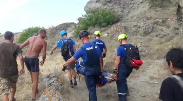 ЧП на горе Меганом: со скалы сорвался мужчина