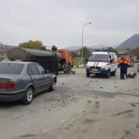 ДТП в Судаке: не разминулись «BMW» и КамАЗ
