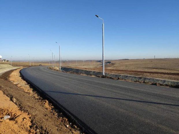 Евпаторийская трасса, от Симферополя до Скворцово, готова наполовину
