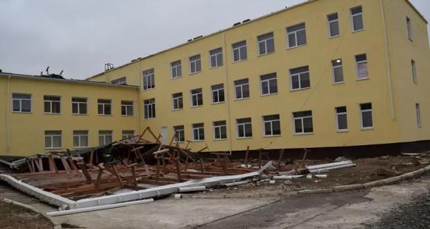 Занятия в пострадавшей от сильного ветра джанкойской школе возобновятся в понедельник