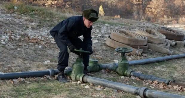 Военнослужащие трубопроводного батальона завершили прокладку магистрального водопровода в Крыму