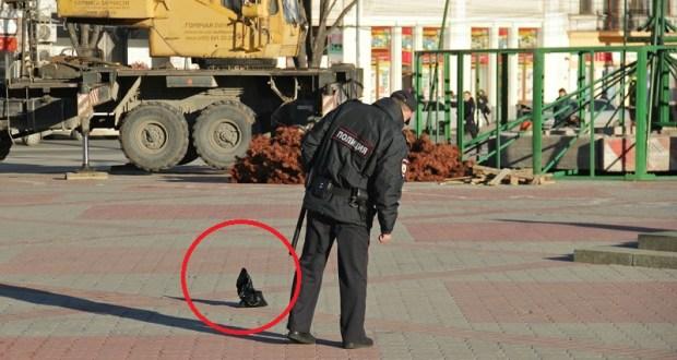 Примерно, на 20 минут из-за «таинственного пакета» была перекрыта площадь Ленина в Симферополе