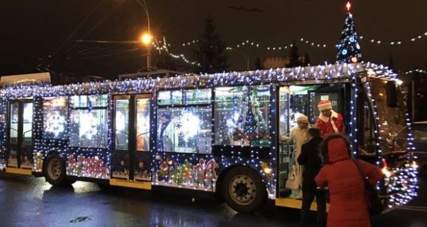 В Симферополе в новогоднюю ночь автобусы и троллейбусы будут курсировать до 3 часов утра