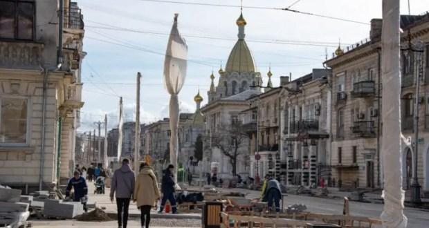 Улица Большая Морская останется закрытой для транспорта до 20 апреля