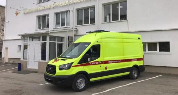 В Крым прибыл первый специализированный автомобиль, оборудованный инфекционным боксом