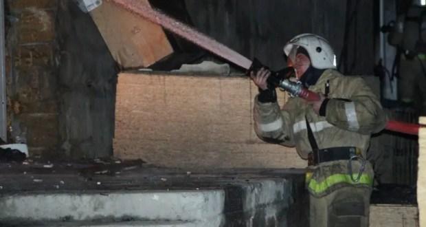 Ночной пожар в Ялте
