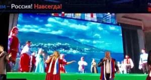 В дни Крымской Весны песни проекта «Крым – Россия! Навсегда!» звучат в большинстве регионов России