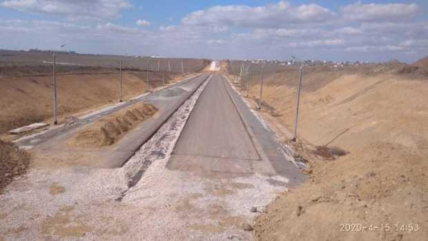Дорогу Симферополь - Евпатория - Мирный строят в соответствии с графиком