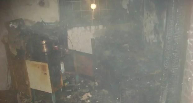 Пожар в с. Приветное под Алуштой