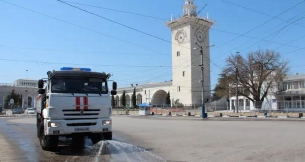 В Крыму проводят дезинфекцию объектов транспортной инфраструктуры