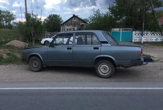 ДТП в поселке Гвардейское, под Симферополем: пьяный водитель сбил столб и пытался сбежать