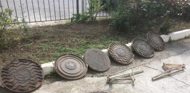 В Ялте иностранец и селянин из Джанкойского района воровали канализационные люки