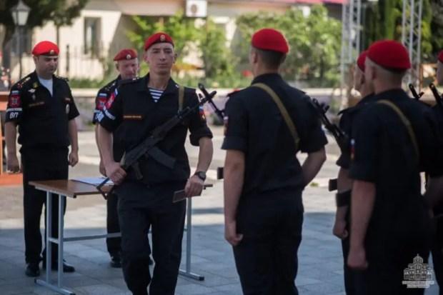 В Херсонесе присягу приняли военнослужащие военной полиции ЧФ РФ