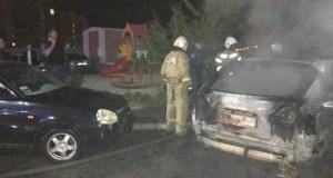 ЧП в Евпатории: ночью горели «Лексус» и «Лада Калина»
