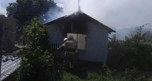 Пожар в Раздольненском районе Крыма